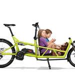 Riese und Müller Lasten e-Bike, e-Cargobike Load Zubehör und Ausstattungsoptionen mit Kindersitzen für 2 Kleinkinder