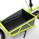 Riese und Müller Lasten e-Bike, e-Cargobike Load Zubehör und Ausstattungsoptionen Gepäckbox offen