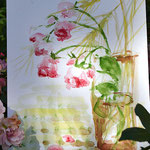 """""""Rose und Ähren"""" , Aquarell 30x40"""