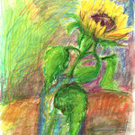 Sonnen des Herbstes, Aquarell, Bundstift, Stabilo, 30x42 cm