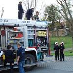 Lehreinheit der Feuerwehrjugend....