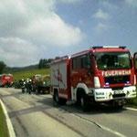 Die Feuerwehr Außerkasten-Furth war ebenso in Einsatz....