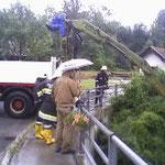 Verklausung bei der Bockbrücke.