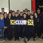 Die Jugendgruppe und das Kommando bedanken sich bei der Raika Kasten!