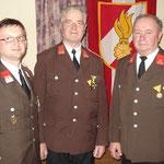 Die Ehrenträger der Feuerwehr Kasten