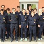 Die Jugendgruppe nach bestandener Prüfung.