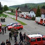 Das Feuerwehrhaus als Einsatzdrehscheibe.