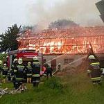 Der ganze Heuboden stand in Flammen.