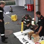 Handhabung des hydraulischen Rettungsgerätes.