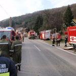 Großaufgebot an Feuerwehren.