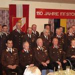 Die Ehrengäste und ausgezeichneten Kameraden.