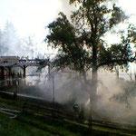 Der gesamte Trakt wurde ein Raub der Flammen.