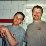 unsere beiden Profi-Installateure: Reinhard und Hannes