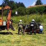 Vorbereitung des Traktors...