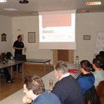Vortrag über Gefahrenerkennung im Branddienst.