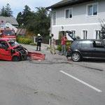 Das Unfallszenario in der Ortsdurchfahrt Steinabruck.