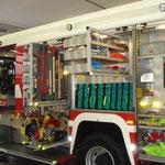 Feuerwehrtechnische Beladung - übersichtlich und geordnet.