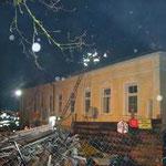 Die Wohnhäuser konnten vor den Flammen gerettet werden.