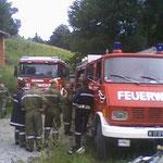Die eingesetzten Feuerwehren.
