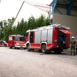 Die Feuerwehren Kasten und Ausserkasten übten gemeinsam.