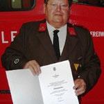 Ewald Pichler - 25 Jahre Feuerwehrdienst