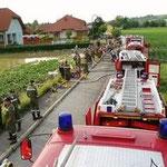 Der überflutete Ortsteil Weisching.