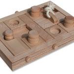DogBoard Flex master – Voor de gevorderde puzzelaar waarbij de klosjes, schuifjes en het plankje afwisselend in het spel kunnen worden geplaatst.