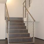 Treppengeländer mit CNS-Seilen