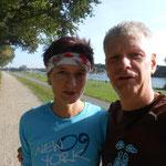 Trainingslauf an der Weser