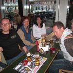 Am Abend feierten wir unseren Erfolg mit Daniel, Kerstin, Andrea und Jörg