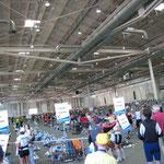 """Hier die 13000 qm große Messehalle """" B6 """""""