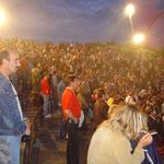 Zuschauer im Amphit-Theater des Nordsternparks