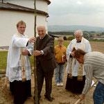 Georgslinde für den Primizianten Pater Georg Haumer