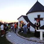 Pater Jacobus Tisch bei der Andacht zum Hl. Geist
