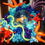 Ballonkunst, Aquarium, Fische, Unterwasserwelt, Mr. Balloni