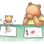 ちいさなおきゃくさま 2014年10月 アクリル絵具、色鉛筆、ワトソン紙