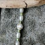 Schwemmholzgirlande mit Lampworkperlen Schmuck fürs Haus Dekoration Wohn Accessoire Mobile Windspiel Treibholzdesign