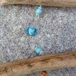 Oster Schwemmholz Treibholz Girlande Schwemmholzgirlande Türdekoration Fensterhänger Lovely Easter mit Holzanhänger Osterhase, indianischen Holzperlen