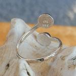 Silberring Fingerring 925 Ring mit 6mm blau violetten Iolith Edelsteinperlen verstellbar