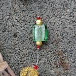 Weihnachts Adventsgirlande Weihnachtsdekoration Schwemmholz Treibholz Girlande Mobile Windspiel Tür-, Fensterdeko mit Engelanhänger, goldenen Drahtperlen, goldenen Sternenstaub Perle