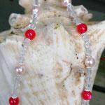 Kinder Mächen Perlen Halskette Awesome mit Einhornanhänger, durchsichtigen facettierten Acrylperlen, rosa Glanzerlen, pinken Acrylperlen sowie keinen silbernen Blumenrondellen