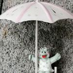Tür-, Fensterdekoration Mobile Windspiel Schwemmholzdesign Treibholz Girlande Windspiel lustiger Frosch unter einem Sonnenschirm