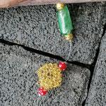 Weihnachts Adventsgirlande Weihnachtsdekoration Schwemmholz Treibholz Girlande Mobile Windspiel Tür-, Fensterdeko mit Engelanhänger, goldenen Drahtperlen, roten Acrylperlen