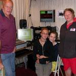 vor den Bewerben eine Livesendung bei Radio Orange 94.0 mit Lakos, Ruthmann,Vierlinger und Danner