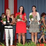 Juniorinnen KO-Bewerb: 2. Schwarz Melanie, BADV - 1. Helm Jennifer, PSV - 3. Jehle Lara, KLAUS