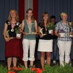 Damen KO-Bewerb: 2. Gruber Elisabeth, LEOB - 1. Zojer Manuela, DIAVO - 3. Utzig Bianca, GAENS - 4. Schalkhaas Katja, WIES