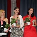Juniorinnen Zählwettspiel: 2. Schwarz Melanie, BADV - 1. Jehle Lara, KLAUS - 3. Helm Jennifer, PSV