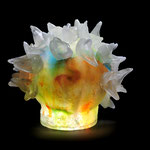 tumble beak coral  H22cm Diameter 23cm , casted glass