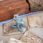 casted foam glass rat, small life size rat