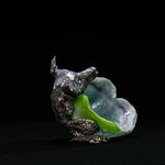 Schalentier fox, pdv and casted aluminium, H18xW19xD18cm